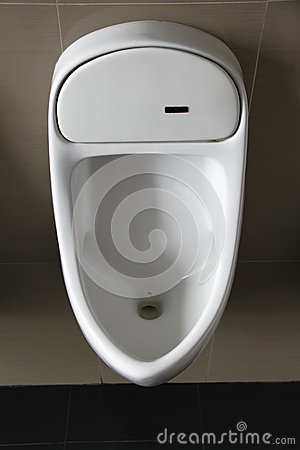 Urinal on White  wall