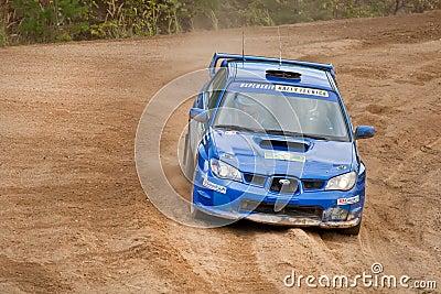 Uriy Volkov drives a Subaru Editorial Photo