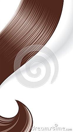 Сurl hair.