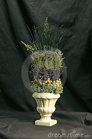 Urn with Floral Arrangement