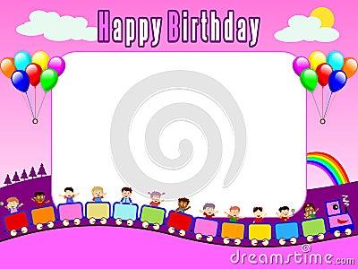 Urodziny 1 ramowego zdjęcie