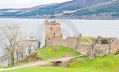 Urquart Castle and boat.