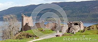 Urquhart Castle Ruin Panorama