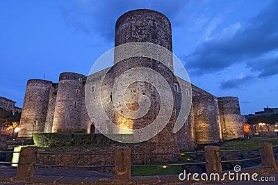 Ursino castle in Catania Sicily Italy