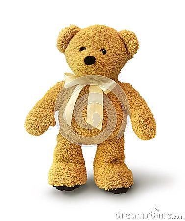 Urso de peluche de passeio