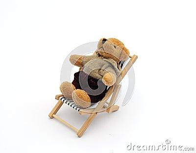 Urso no deckchair