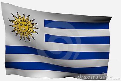 Uruguay 3d flag