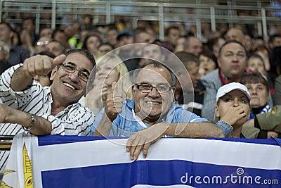 Uruguay fans Editorial Stock Image