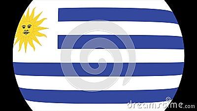 Uruguay flaggaövergång 4K vektor illustrationer