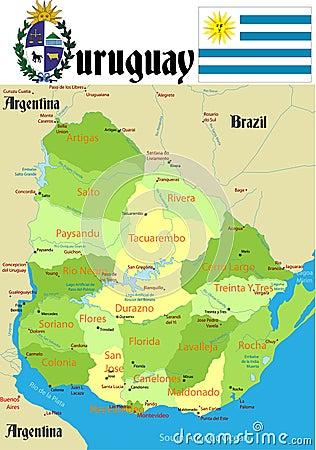 Uruguay Map.