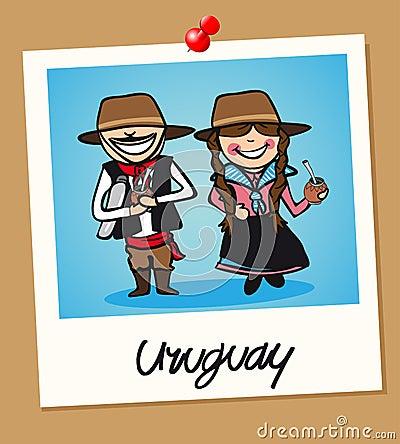 Uruguay travel polaroid people