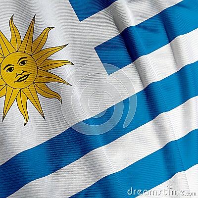 Uruguayan Flag Closeup