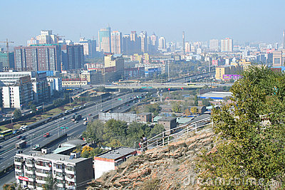 Urumqi city. China