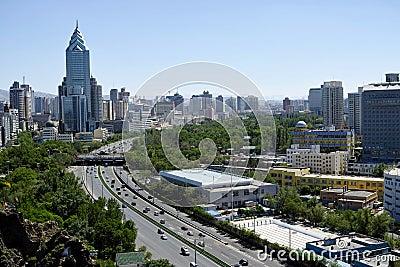Urumqi city views Editorial Stock Photo