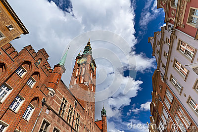 Urząd miasta w starym miasteczku Gdansk