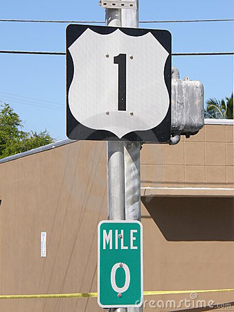 Free US-1 Mile Marker Stock Photography - 3976212