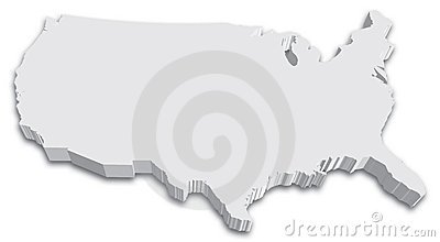 US 3D State map