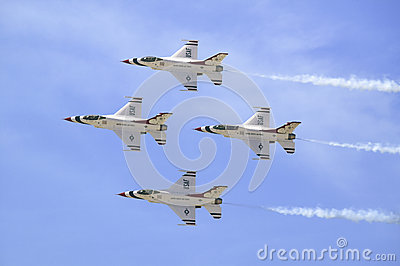 US Air Force F-16C Fighting Falcons, Editorial Stock Image