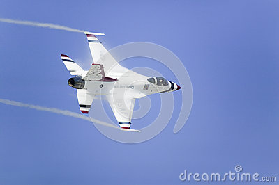 US Air Force F-16C Fighting Falcons Editorial Stock Photo