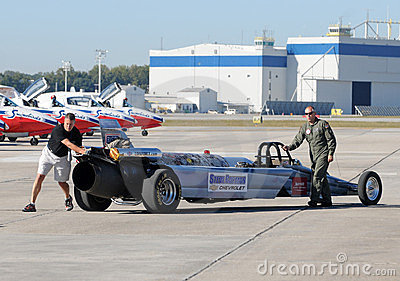 US Air Force jet car Editorial Image