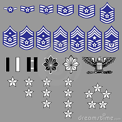 Free US Air Force Rank Insignia Royalty Free Stock Image - 8820836