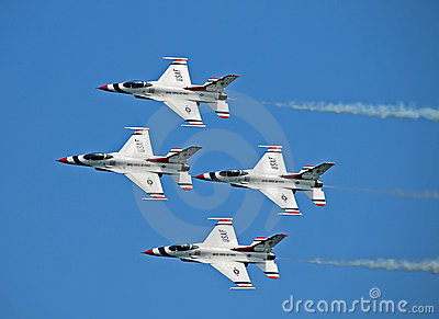 US Air Force Thunderbirds Editorial Stock Photo