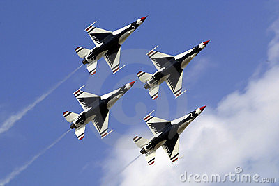 US Air Force Thunderbirds Editorial Photo