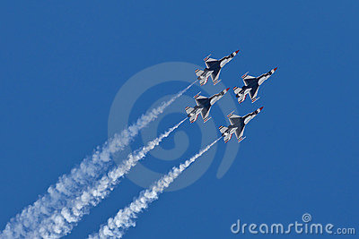 US Air Force Thunderbirds Demonstration Squadron Editorial Stock Image