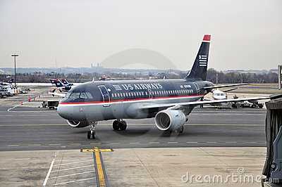 US Airways Boeing 737 at airport Editorial Stock Image