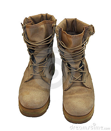 Free US Army Boots Royalty Free Stock Photography - 13680597