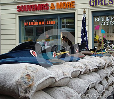 US Army checkpoint. Berlin Editorial Photography