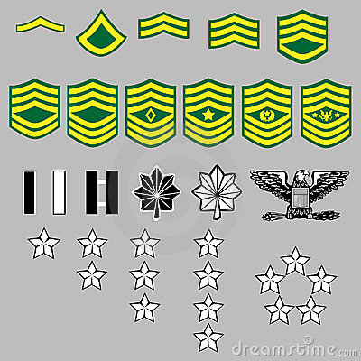 Military Insignia on Us Army Rank Insignia Royalty Free Stock Image   Image  8820846