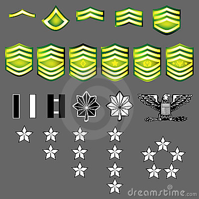 US Army Rank Insignia Royalty Free Stock Images - Image: 8820849