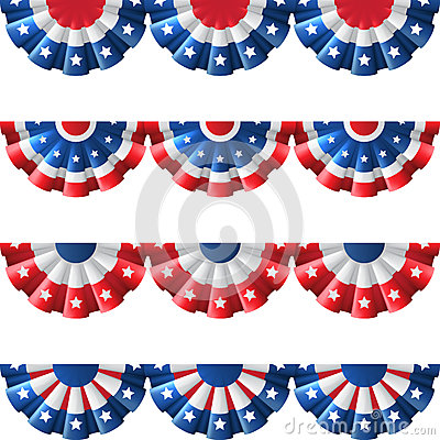 Free US Bunting Decoration Royalty Free Stock Images - 55816819