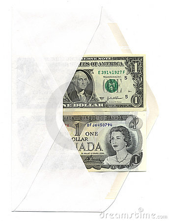 US and Canadian dollar bills