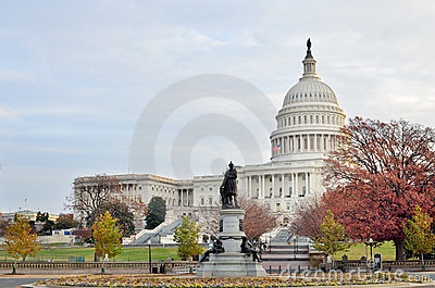 US Capitol building in Autumn, Washington DC, USA