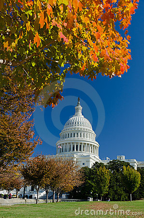 Free US Capitol Building In Autumn, Washington DC, USA Royalty Free Stock Image - 22036586