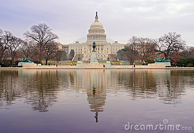US Capitol Building and Reflection