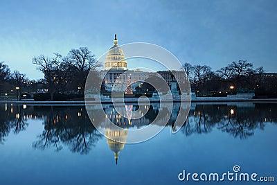 US Capitol Daybreak Holiday Tree Washington DC