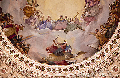 US Capitol Dome Rotunda Apothesis Washington DC