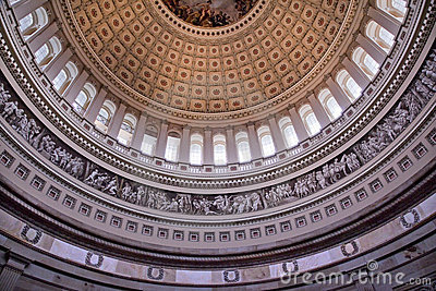 US Capitol Dome Rotunda Inside Washington DC