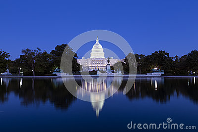US Capitol in the dusk