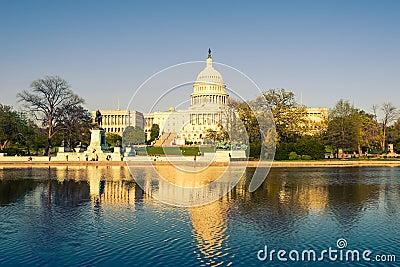 US Capitol at evening