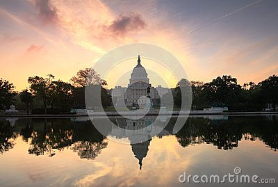 US Capitol Sunrise Washington DC