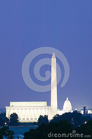 US Capitol and Washington Monument