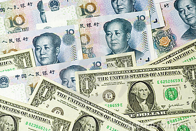 US and Chinese currencies