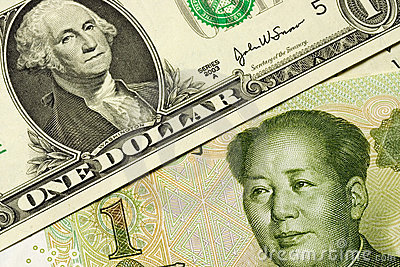 US and Chinese currency