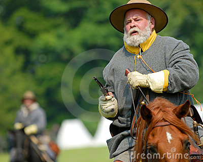 US Civil War cavalry soldier  Editorial Stock Image