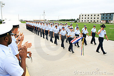 US Coast Guard Graduation Editorial Stock Photo
