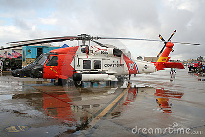 US Coast Guard rescue helicopter Editorial Stock Photo
